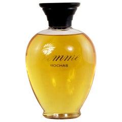 Large Midcentury French Vintage Glass Factice Perfume Bottle, Femme Rochas