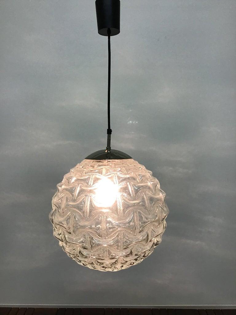 Large Mid - Century Glass Globe Pendant by Limburg ...