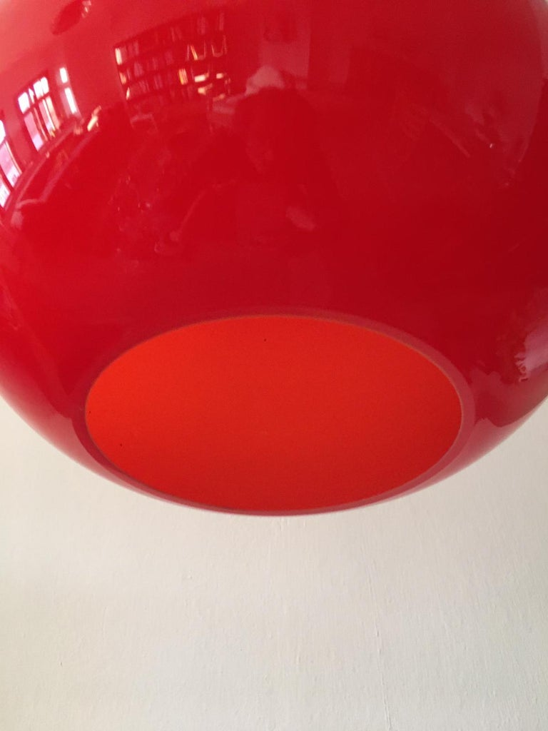 Mid-Century Modern Large Midcentury Glass Pendant by Alessandro Pianon for Vistosi For Sale