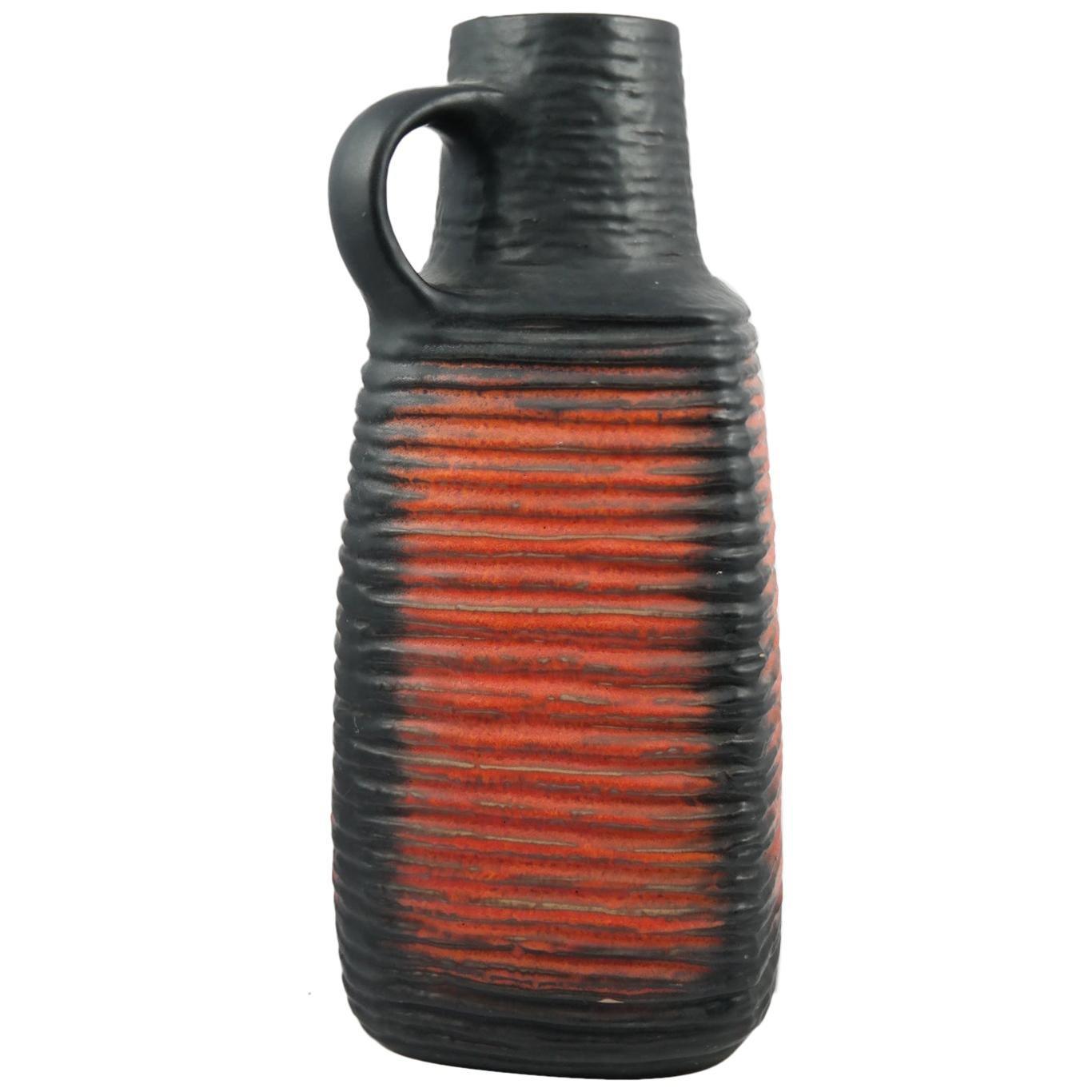 Large Midcentury Handmade Ceramic Vase, 1970s
