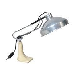 Large Midcentury Industrial Lamp