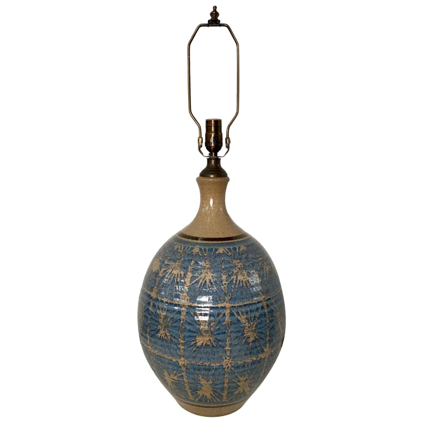Large Midcentury Italian Ceramic Table Lamp