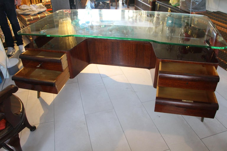 Large Midcentury Italian Executive Desk by Vittorio Dassi For Sale 10