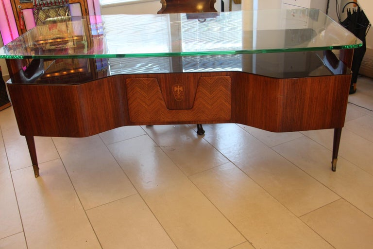 Large Midcentury Italian Executive Desk by Vittorio Dassi For Sale 1
