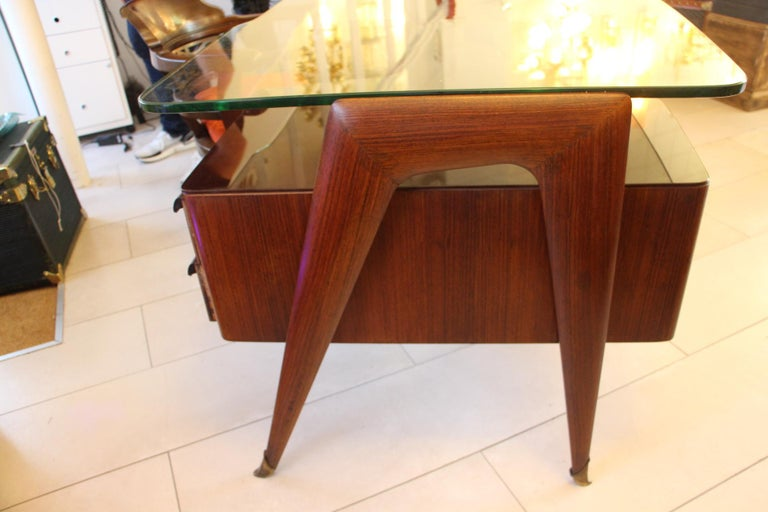 Large Midcentury Italian Executive Desk by Vittorio Dassi For Sale 2
