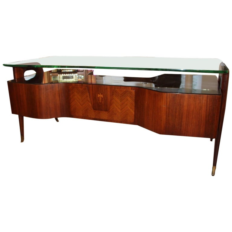 Large Midcentury Italian Executive Desk by Vittorio Dassi For Sale