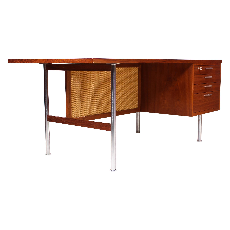 Large Midcentury Kai Kristiansen Teak Desk by FM Møbler