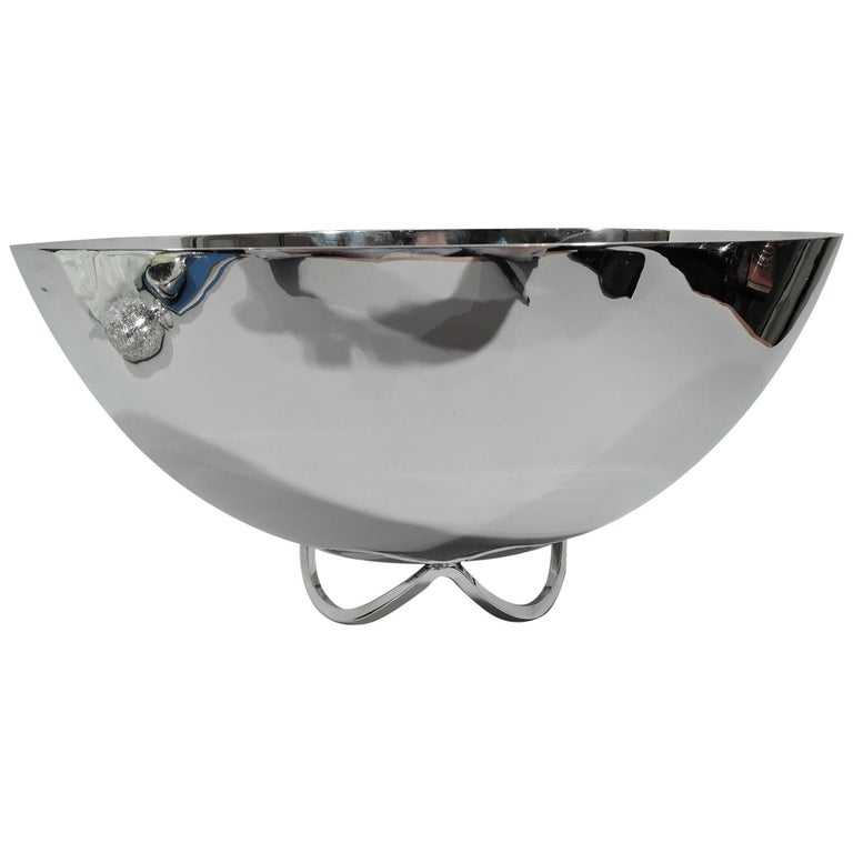 Large Mid-Century Modern Sterling Silver Centerpiece Bowl by Cartier For Sale