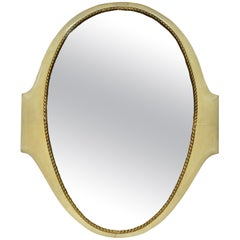 Large Midcentury Parchment Mirror