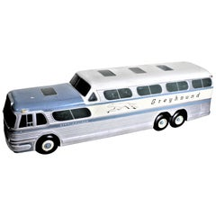 Large Mid-Century Plaster 'Scenicruiser' Greyhound Bus Advertising Display Model