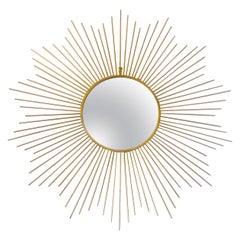 Large Midcentury Star Shaped Sunburst Mirror