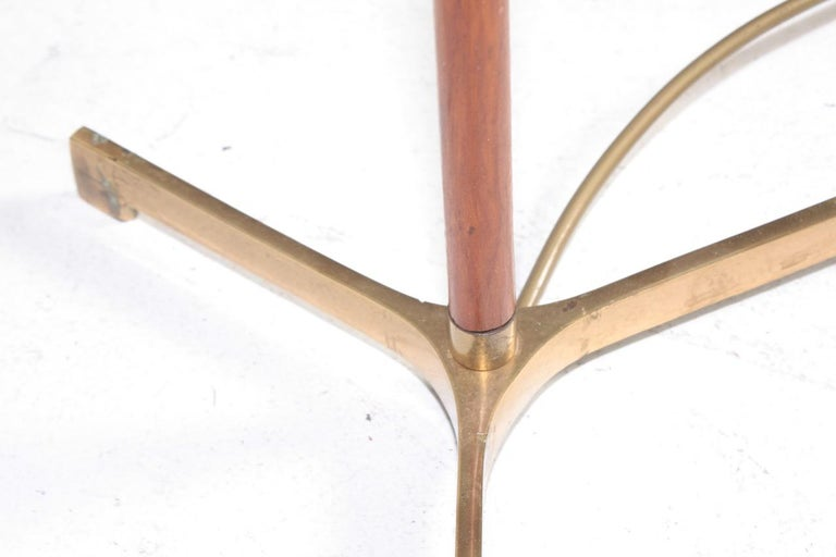 Large Midcentury Table Lamp in Teak and Brass, Made in Denmark, 1950s For Sale 2