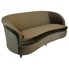 Large Midcentury Three-Seat Sofa by Parisi