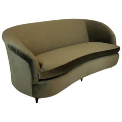 Large Midcentury Three-Seat Sofa by Parisi