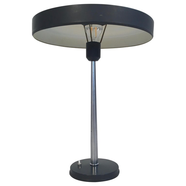 Large Midcentury 'Timor' Desk Lamp, L. Kalff for Philips Netherlands, circa 1950 For Sale