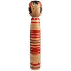 Large Midcentury Traditional Kokeshi Doll from Tsuchiyu, Japan