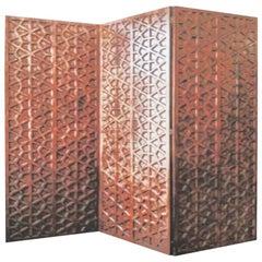 Large Midcentury Walnut Screen or Room Divider