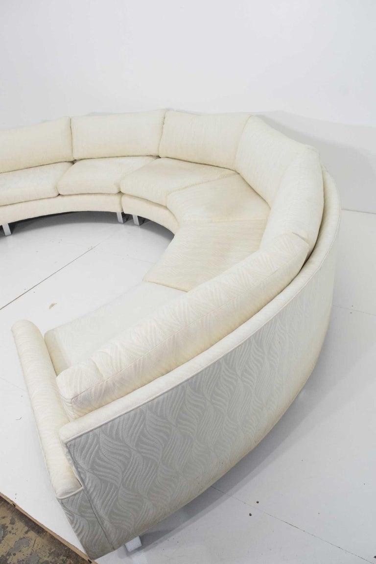 Large Milo Baughman Four Section Circular Sofa For Sale At