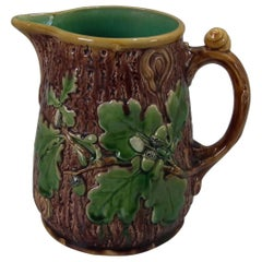Large Minton Majolica Oak Jug or Pitcher
