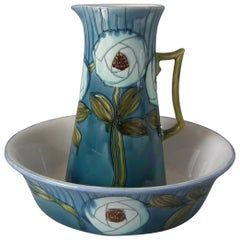 Large Minton Secessionist No.19 Jug and Wash Bowl