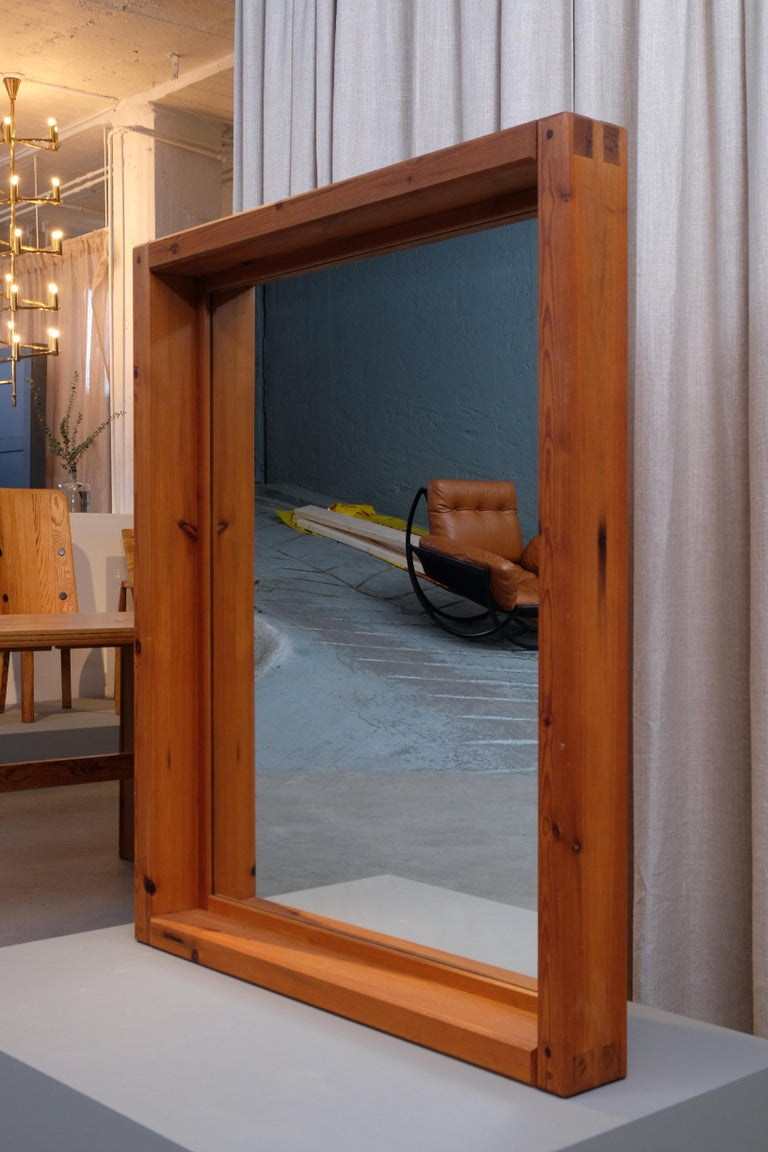 Scandinavian Modern Large Mirror by Roland Wilhelmsson, 1960s For Sale