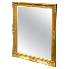 Large Mirror Hollywood Regency Style Gilded Wood Vintage, Italy, 1970s