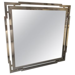 Large Mirror Metal Chrome by Mario Sabot, Italy, 1970s