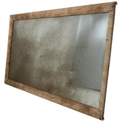 Large Mirror with Fabric Frame