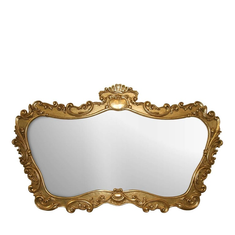 Large Mirror with Gold Leaf