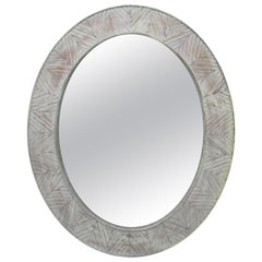 Large Mirror with Weathered Wood Frame