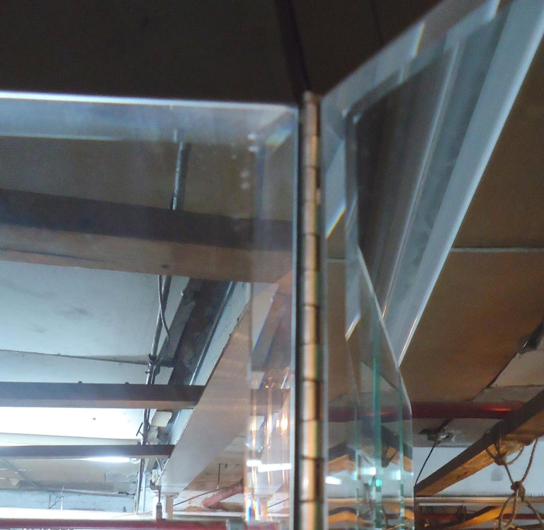 Mid-Century Modern Large Mirrored Screen For Sale