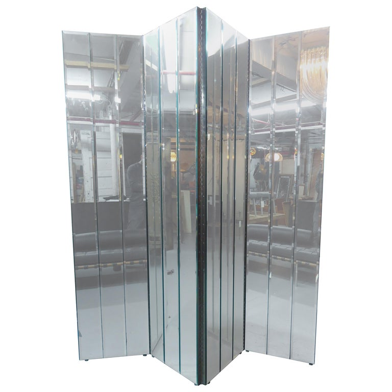 Large Mirrored Screen For Sale