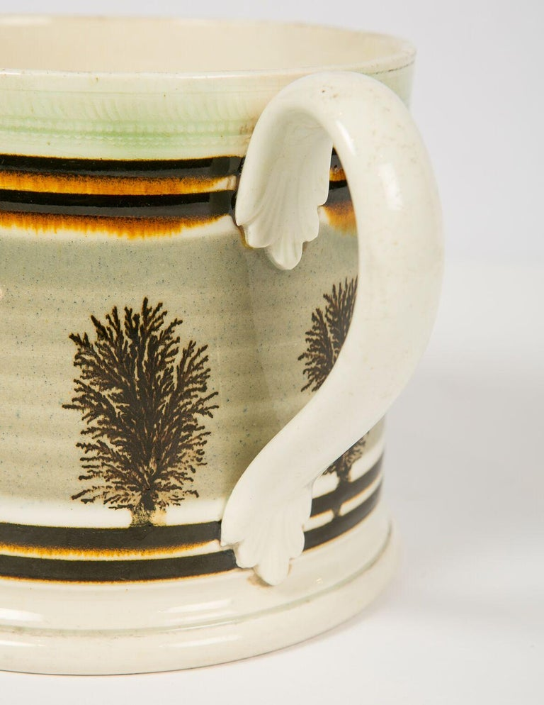 Large Mochaware Mug Made in England Circa 1820 For Sale 1