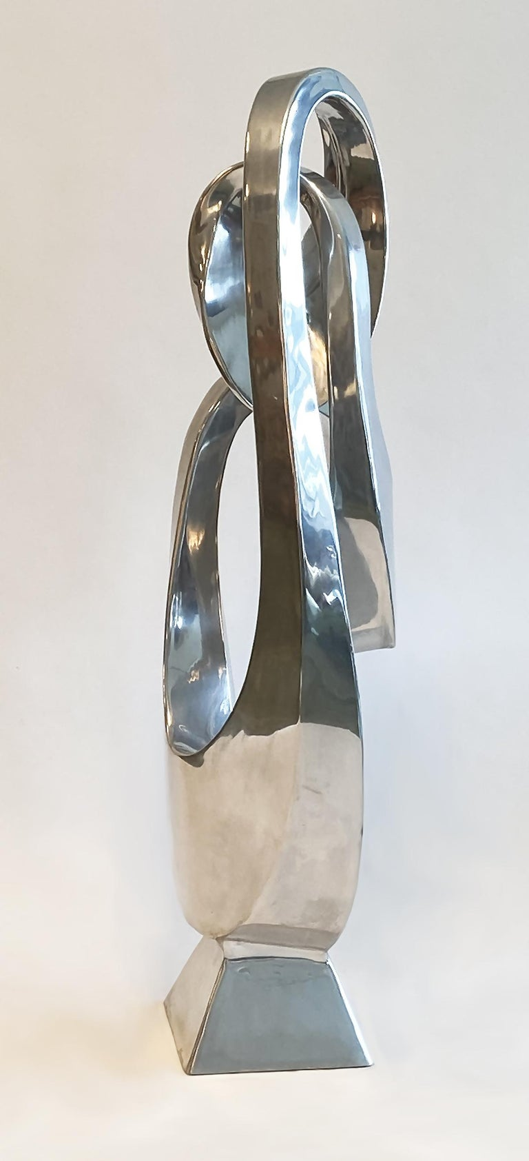 American Large Modern Abstract Aluminum Sculpture by Bill Keating, 1970s
