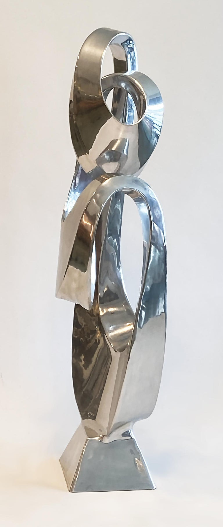 Large Modern Abstract Aluminum Sculpture by Bill Keating, 1970s In Good Condition In Ft Lauderdale, FL