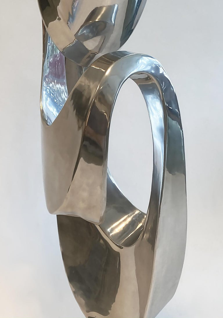 Large Modern Abstract Aluminum Sculpture by Bill Keating, 1970s 1