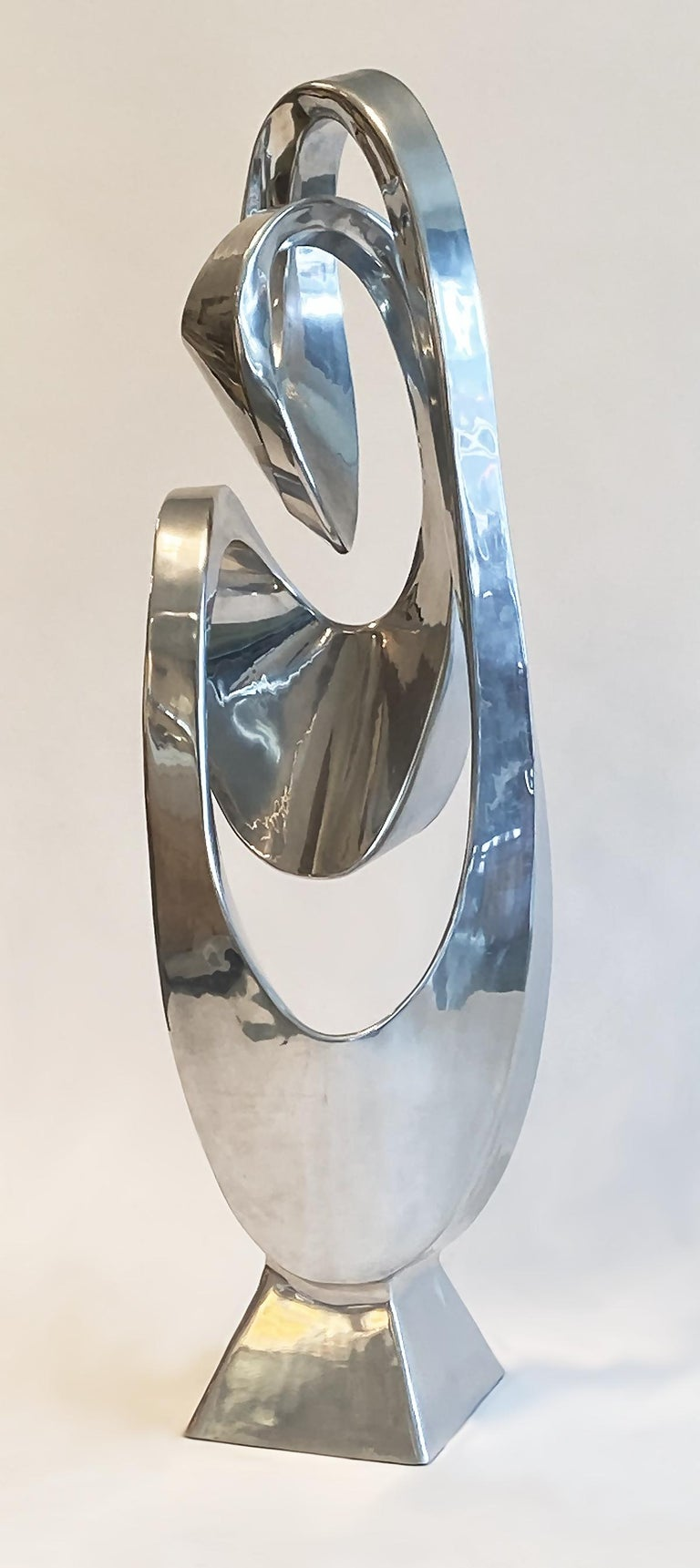 Large Modern Abstract Aluminum Sculpture by Bill Keating, 1970s 3