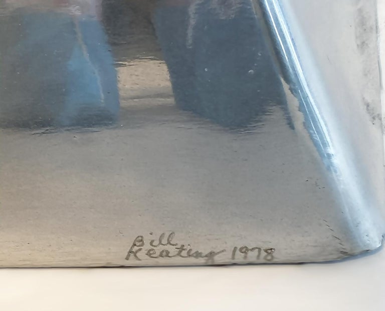 Large Modern Abstract Aluminum Sculpture by Bill Keating, 1970s 4