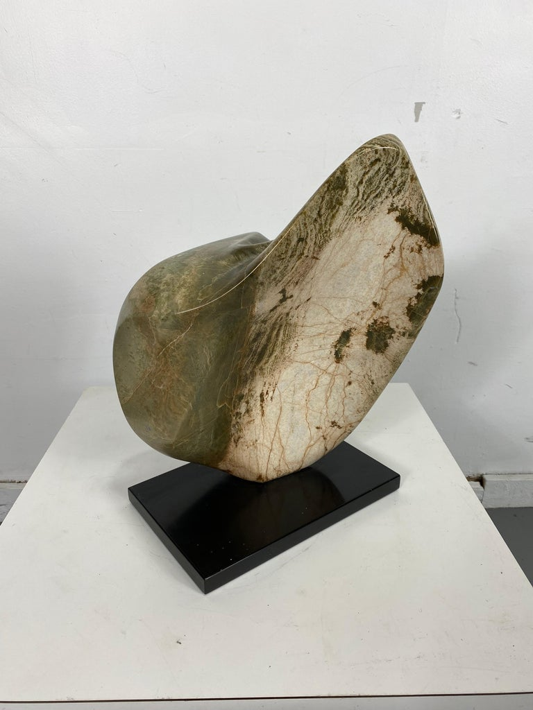 German Large Modern Abstract Marble Sculpture by Hans Schleeh