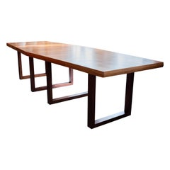 Large Modern Boat Shape Conference,Dining Table designed by De Coene Belgium
