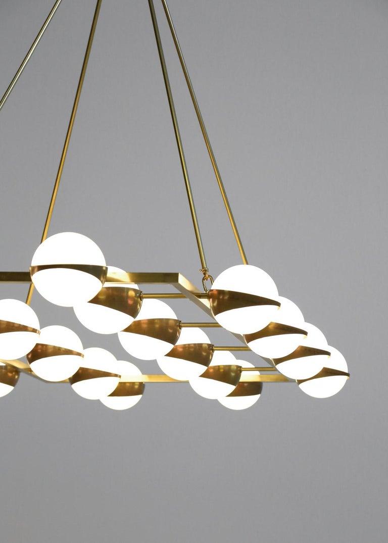 Large Modern Chandelier 20 Lights, Stilnovo Style For Sale 5