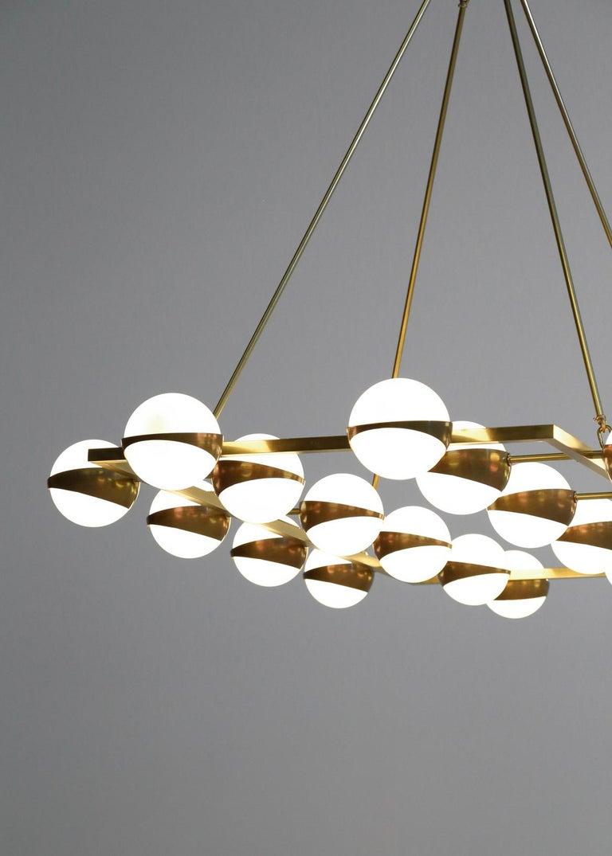 Large Modern Chandelier 20 Lights, Stilnovo Style For Sale 6
