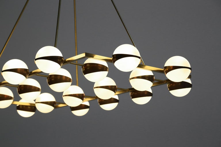 European Large Modern Chandelier 20 Lights, Stilnovo Style For Sale