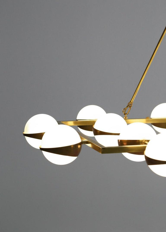 Contemporary Large Modern Chandelier 20 Lights, Stilnovo Style For Sale