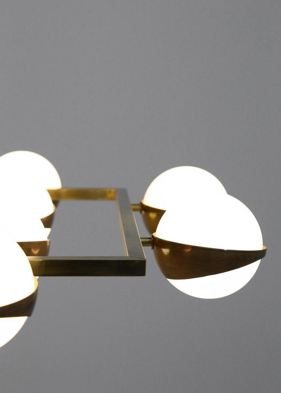 Large Modern Chandelier 20 Lights, Stilnovo Style For Sale 1