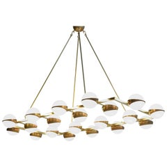 Large Modern Chandelier 20 Lights, Stilnovo Style