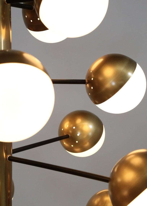 Large Modern Chandelier with 20 Lights, Italian Stilnovo Style For Sale 7