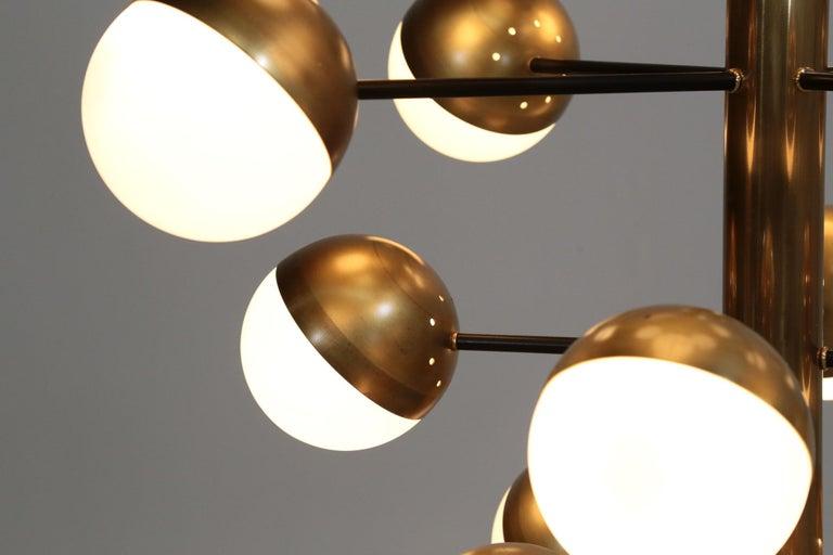 Large Modern Chandelier with 20 Lights, Italian Stilnovo Style For Sale 2