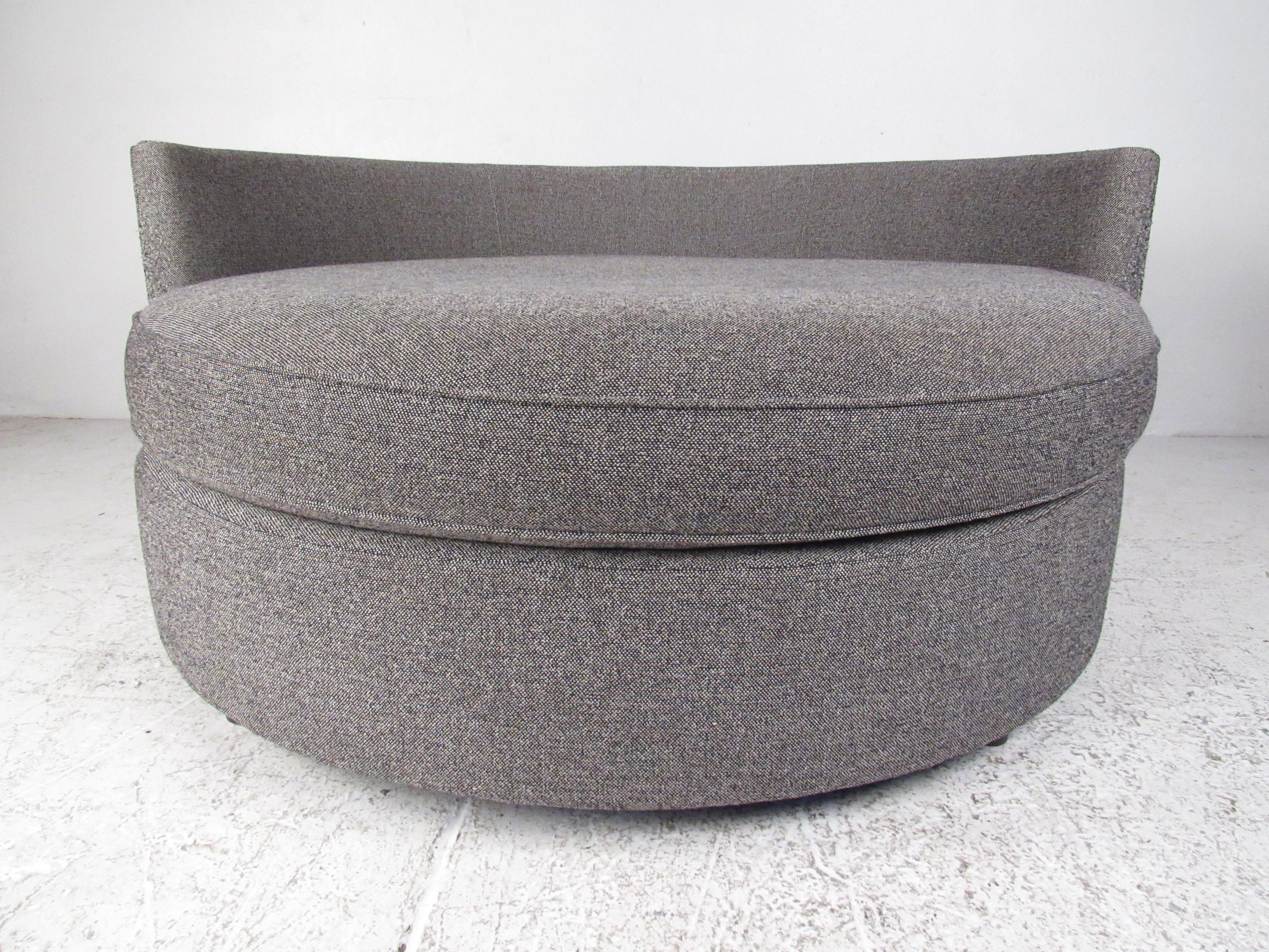 Large modern disc style lounge chair for sale at 1stdibs