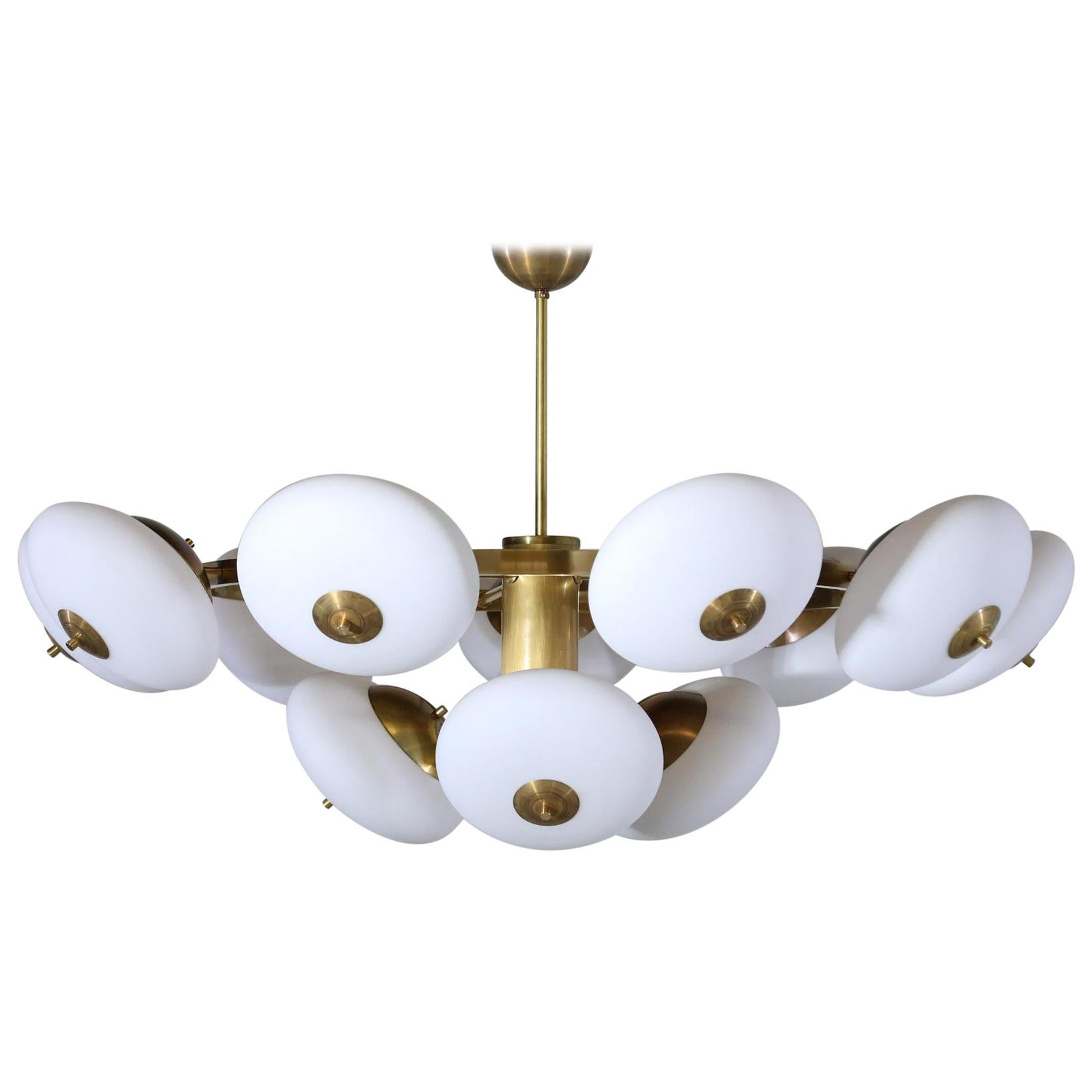 Rare 32 Globe Stilnovo Chandelier | | Stilnovo